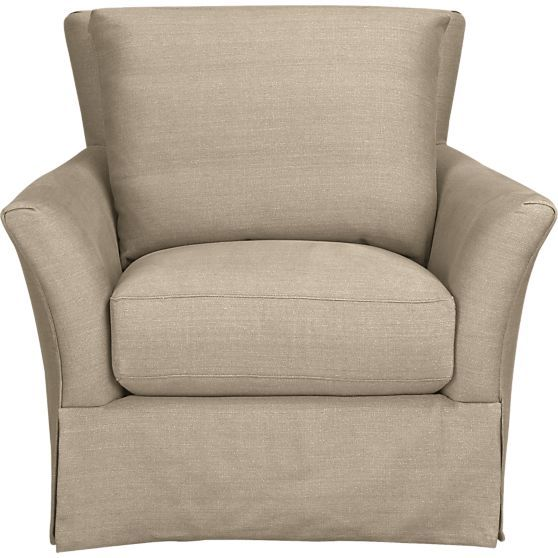 Haven Swivel Chair In Chairs Crate And Barrel Client 9