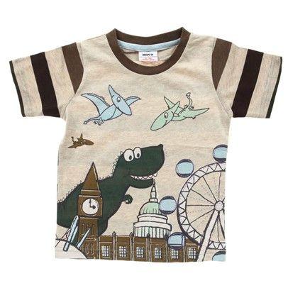 cute boys fashion Apricot Dinosaur Print T-Shirt-C2580-White $14.00 on Ozsale.com.au