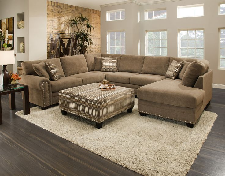 Oates 3 piece sectional at hom furniture furniture for Furniture outlet mn