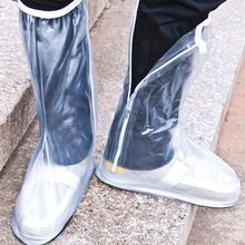 Nuevas Adquisiciones Blanco Zapatos antideslizantes Cubre Botas de Lluvia Wellies Impermeable Recorrido Al Aire Libre Impermeable Masculino y femenino(China (Mainland))