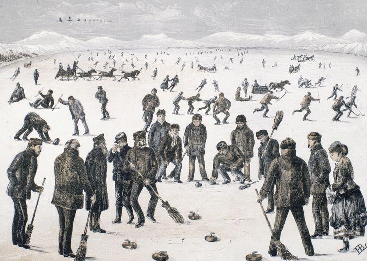 Curling on the lakes near Halifax, Nova Scotia / Curling sur les lacs près d'Halifax (Nouvelle-Écosse) | by BiblioArchives / LibraryArchives