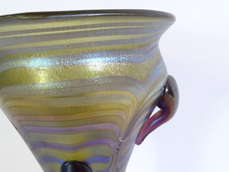 Originale grosse seltene Jugendstil Glasvase Pokalvase Freiherr v. Poschinger | Antiquitäten & Kunst, Glas & Kristall, Sammlerglas | eBay!