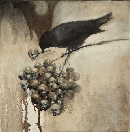 Visual artist Samuli Heimonen PICK. Acrylic and oil on canvas. 2011