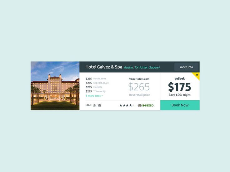 Discount Hotel Site by Sam Stratton for Focus Lab