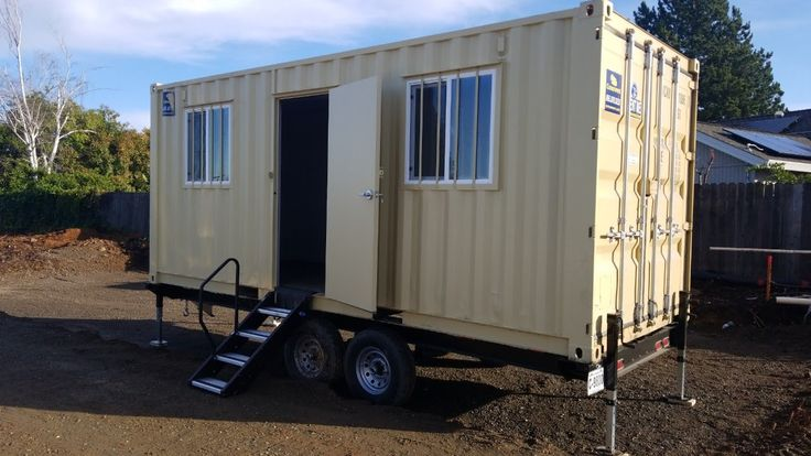 20ft mobile office container with trailer for sale near me