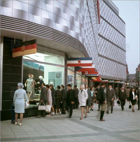 Poster DDR - Konsument-Warenhaus Leipzig 1968