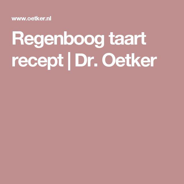 Regenboog taart recept | Dr. Oetker