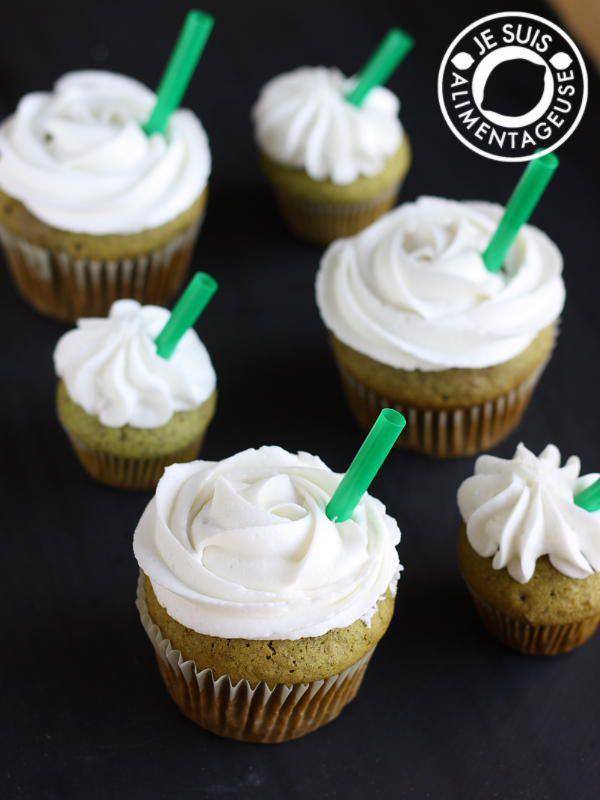 Vegan Green Tea Cupcakes, inspired by Starbucks' Green Tea Frappucino | alimentageuse.com