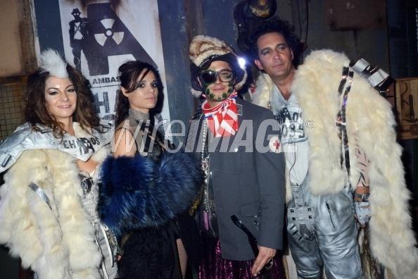 Sophie Levy, Melissa Mars, Aurelien Wiik & Nicolas Levy @ Chaos 2099 Apocalypse Costume Ball 20/10/12 © Wireimage