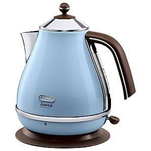De'Longhi KBOV3001AZ Vintage Icona Kettle, Azure Blue