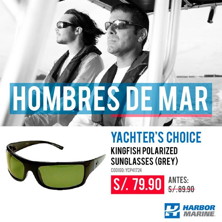 Experimenta el verdadero color y nitidez de los lentes polarizados #Yacher'sChoice.  #fishing #yachting #boating #driving #playing #watersports ¡HOMBRES DE MAR! Ahora hasta con 10% Dscto. en #HarborMarine.