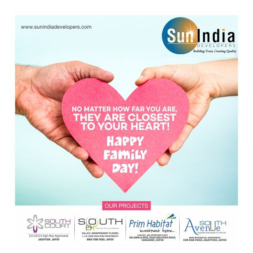 The Warmth, and sunny presence of all members make our FAMILY all more special Happy International Family Day.