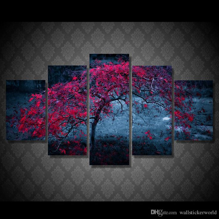 Wholesale cheap large paintings for sale online, brand - Find best 5 pcs/set framed printed tree leaves purple autumn painting canvas print room decor print poster picture canvas free shipping/ny-4924 at discount prices from Chinese paintings supplier - wallstickerworld on DHgate.com.
