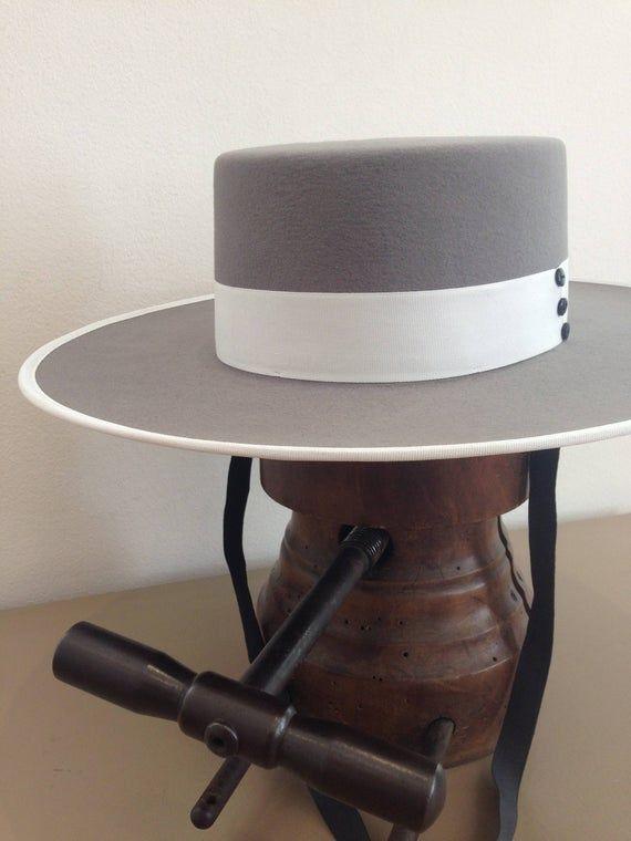 The Bolero Wool Or Fur Felt Custom Handmade Etsy In 2021 Bolero Hat Felt Cowboy Hats Spanish Style