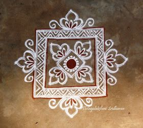 Rangoli and Art Works: FREEHAND SQUARE KOLAM