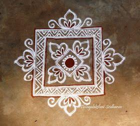 Rangoli and Art Works: FREEHAND SQUARE KOLAM