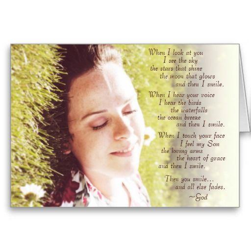 "Innocence & Beauty series card, ""Smile"" poem from Abba, written by Rachel Jacobs"