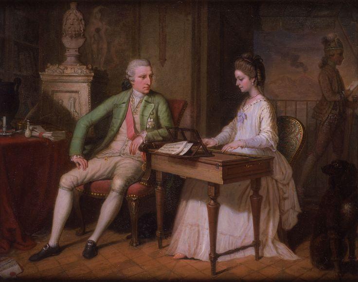 Sir William and the First Lady Hamilton in their Villa in Naples ; Artist: David Allen ; Year: 1770