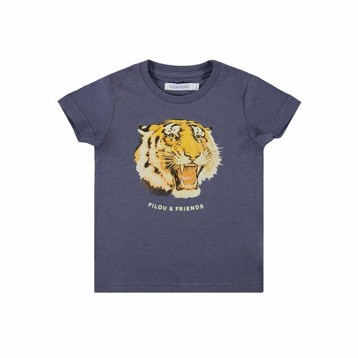 "Jongen - tshirt KM ""lion"" - tshirt KM ""lion"" - T-SHIRTS - Filou - Filou & Friends"