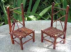 Fairy garden twig furniture