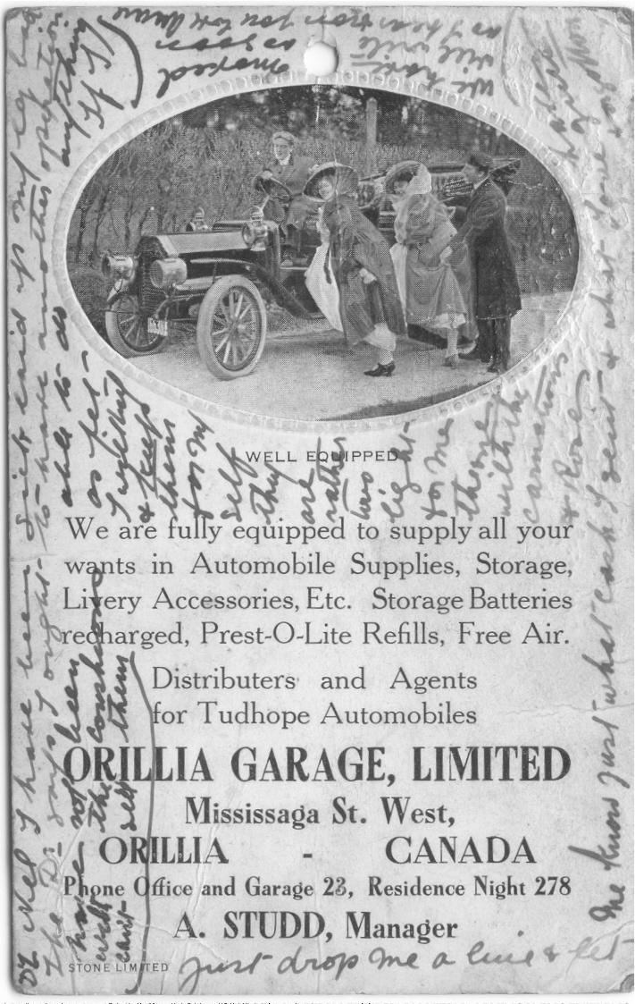 Orillia Garage, Ontario, Canada 1913