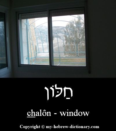 "How to say ""window"" in Hebrew.    This word dates all the way back to Bereisheet (Genesis) 8:6 and is still the right word to use in Modern Hebrew.  And to remember it -- think ""hole"" for ""khohl"", and the ""ohn"" ending often means ""little one"".  So this is a little hole in the wall!  Hear it spoken by an Israeli here: http://www.my-hebrew-dictionary.com/window.php"