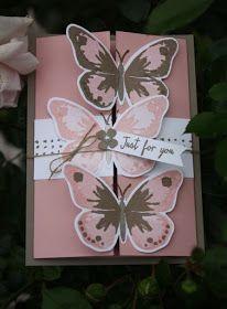 """Ein wirklich zauberhaftes Stempelset ist das Two-Step-Set """"Watercolor Wings"""" mit Schmetterlingen im Wasserfarben-Design. Unzählige Farbkomb..."""