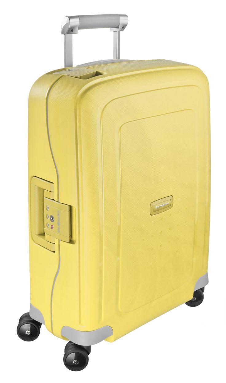 S'Cure Lemon 69cm #Samsonite #SCure #Travel #Suitcase #Luggage #Strong #Lightweight #MySamsonite #ByYourSide