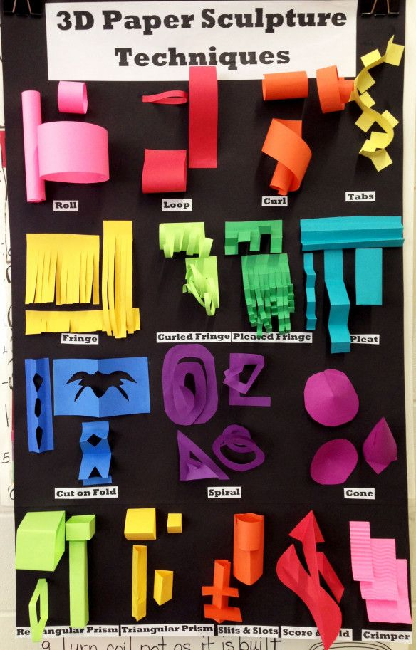 3D Paper Folding Ideas for crafting with Kids