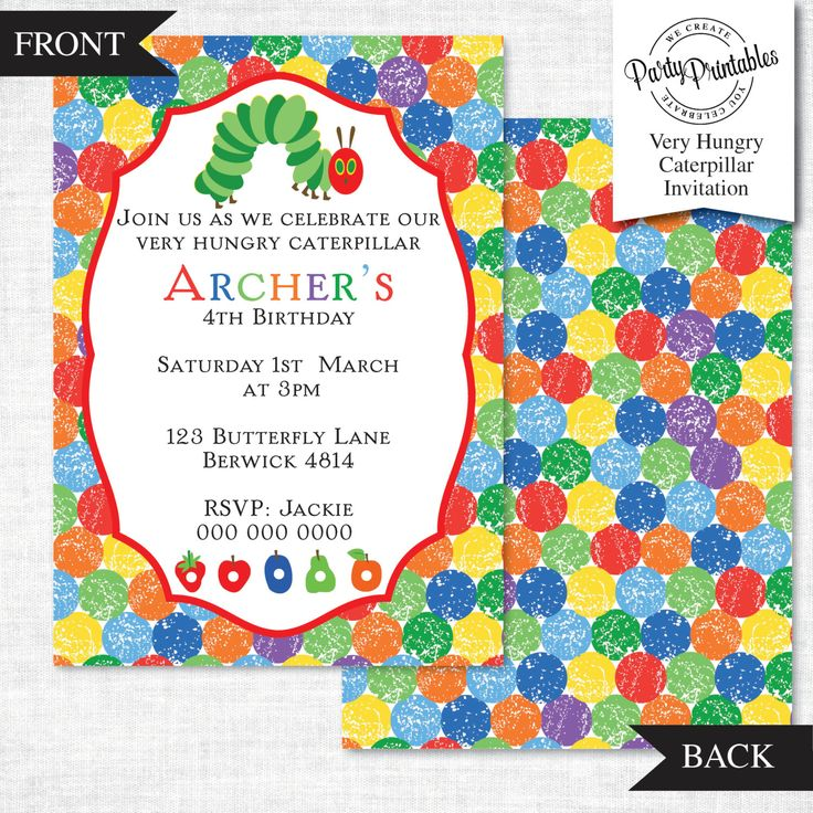 136 best images about Hungry Caterpillar Birthday Party – Very Hungry Caterpillar Party Invitations