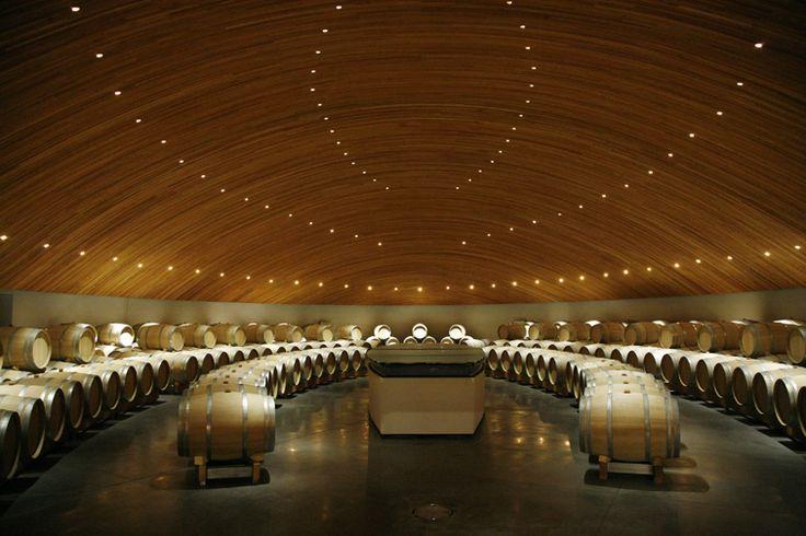 Lapostolle - Second Year in Oak Barrel Room #wine #architecture #chile
