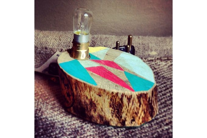 Flat Tree Stump Light (small)  by Beards & Banjos