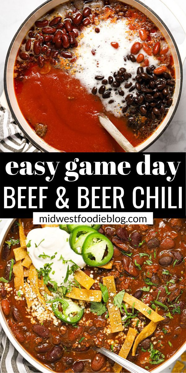 Beef Beer Chili Recipe Beer Chili Favorite Chili Recipe Family Dinner Recipes