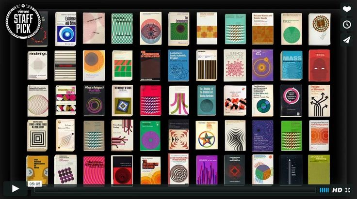 Covers: 55 Vintage Book Graphics Set in Motion (video)