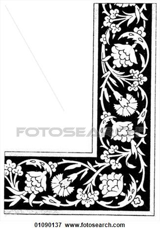 Patterns & Motifs - line art Persian Tile Panels (1500-1700) Persia is the western name for Iran The people of this land have always called their country Iran (the land of the Aryans). In 1935 the name was officially changed at the request of the Iranian View Large Illustration