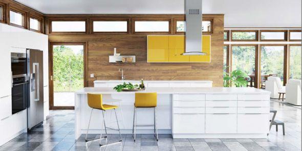 Sleek minimalistic Scandinavian style kitchen - IKEA SEKTION new modular system.