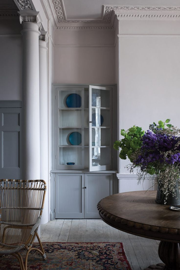 Colours | Peignoir no 286 Estate Emulsion on walls | Farrow & Ball. Woodwork in Worsted 284 Estate Eggshell