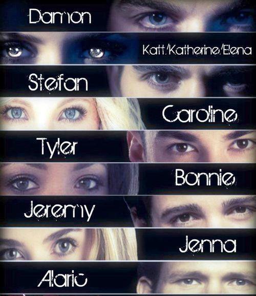 Eyes of Vampire Diaries cast