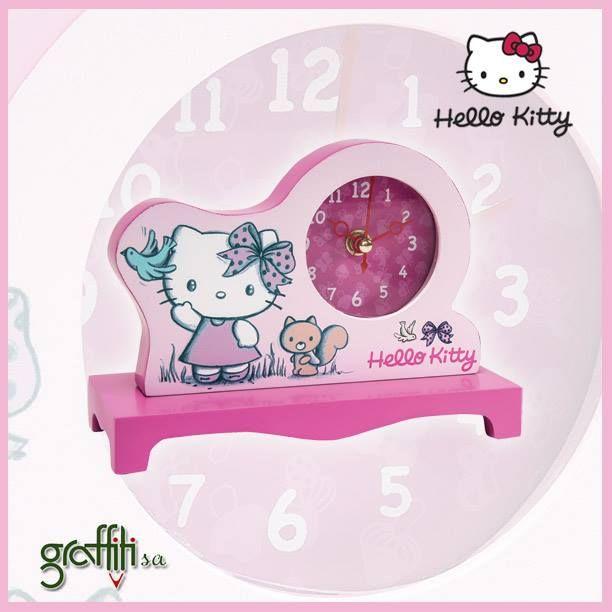 Ήρθε η ώρα... Επιστροφή στα θρανία!  Hello Kitty επιτραπέζιο ρολόι από τη Graffiti! http://graffiti.gr/products_by_sub_sub_cat/39/20/3/paidiko-dwmatio #graffitisa #hellokitty
