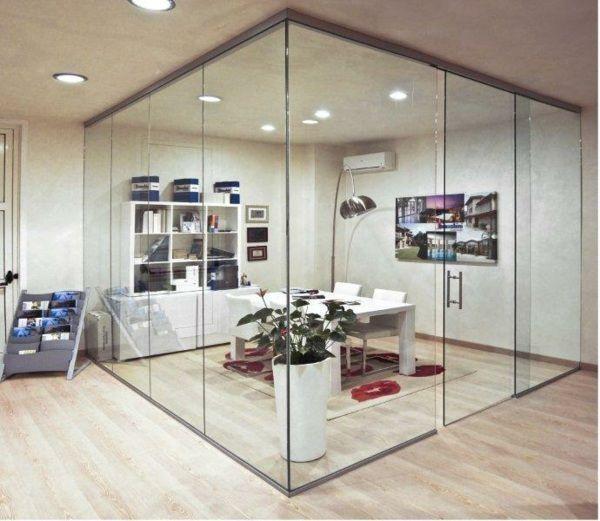 cloison vitrée pour délimiter un espace bureau