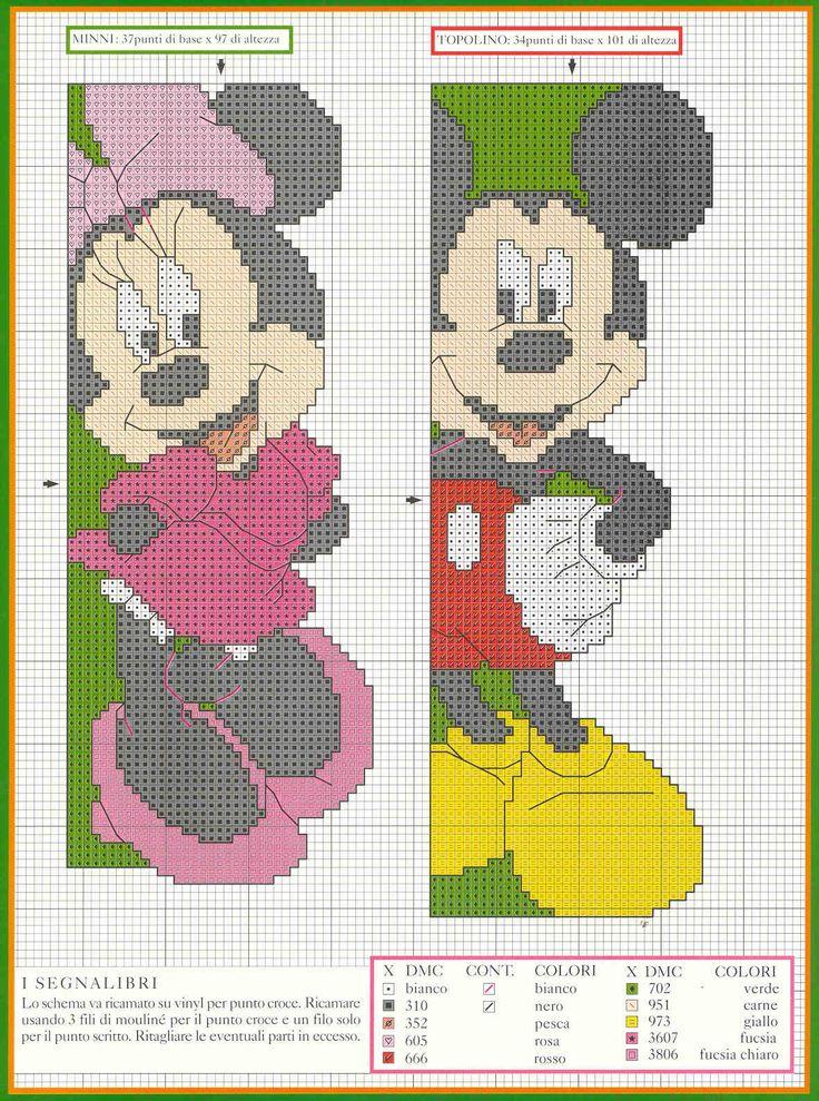 cute Minnie and Mickey