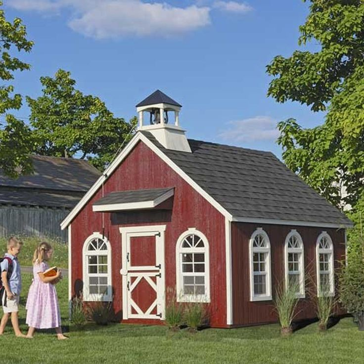 #Amish Made Stratford #Schoolhouse Kids Outdoor Playhouse Kit - #Playhouses - Playtime! - Kids - $2059