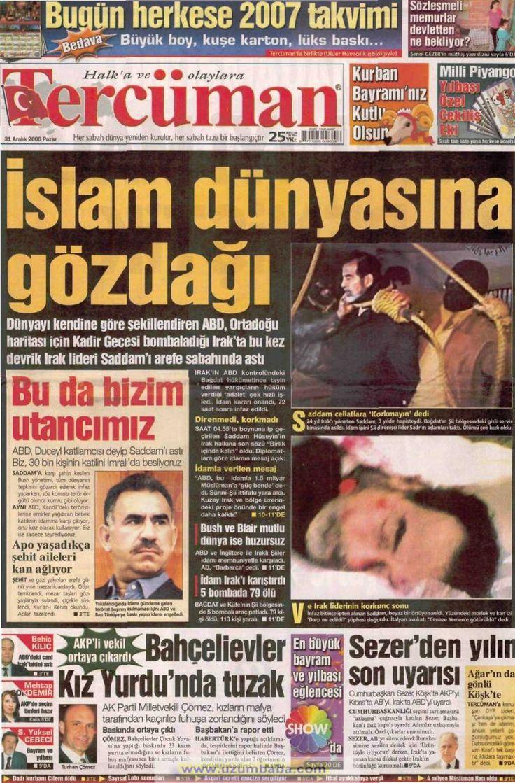Tercüman gazetesi 31 aralık 2006