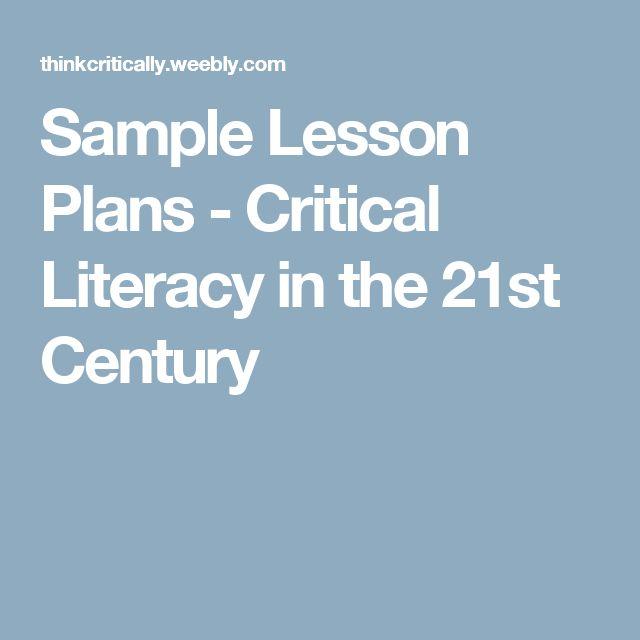 Best St Century Images On Pinterest St Century St - 21st century lesson plan template