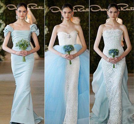 Цветные свадебные платья в моде!