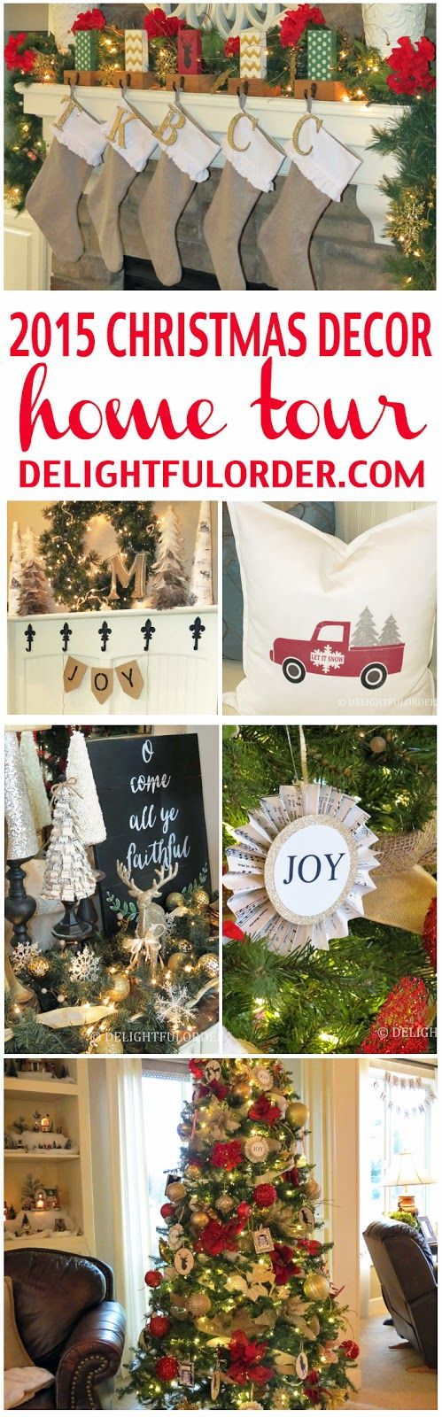 Delightful Order 2015 Christmas Decor Home Tour