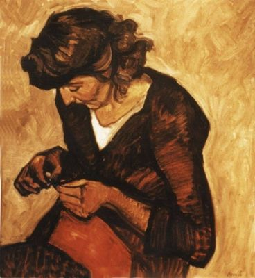 Norman Cornish was comparable to Lucien Freud, to my mind - the difference?  Cornish depicted working class people