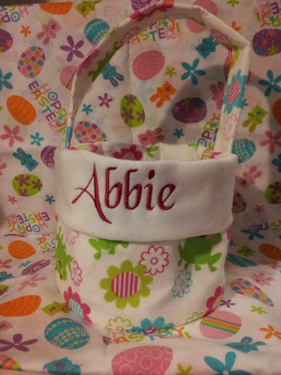 168 best my embroidery designs images on pinterest embroidery personalized easter basket by embroiderydownloads on etsy 2000 negle Images