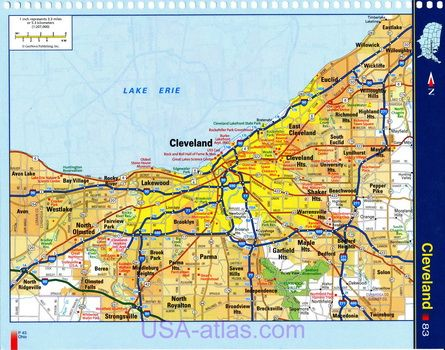 The Best Map Of Cleveland Ohio Ideas On Pinterest Map Of - Usa map cleveland