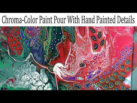 Liquitex Basics  Elmer's Glue  Floetrol  Silicone  Easy Flow Paint Pouring Panel  Fluid Art - YouTube
